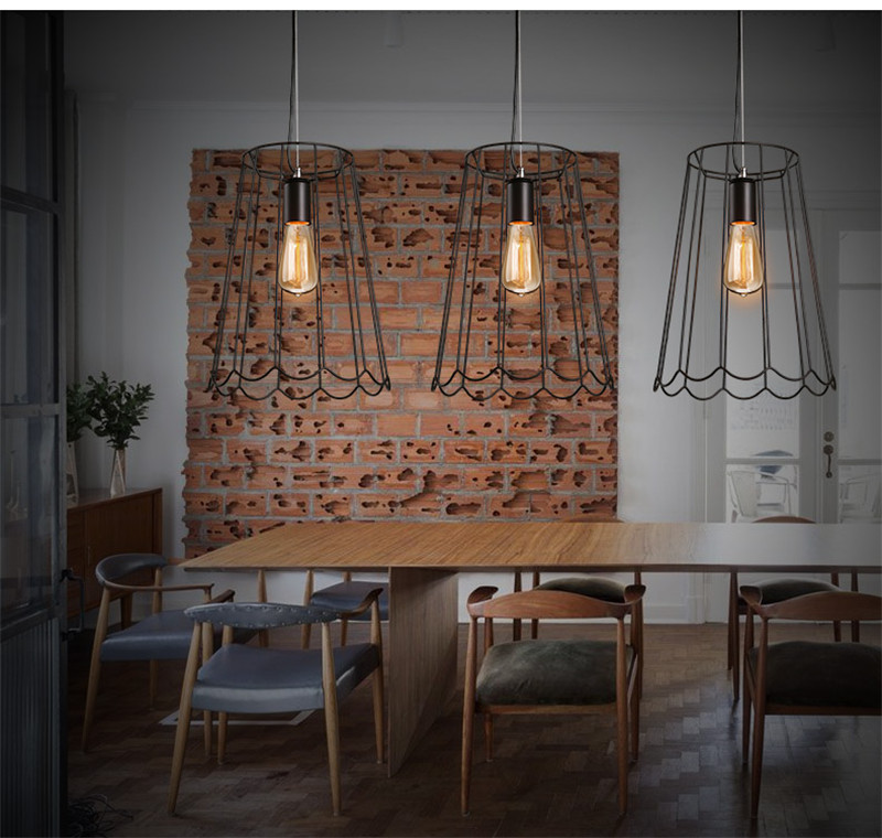 The Nordic modern minimalist American retro restaurant cafe bar clothing store one aisle industrial wind Iron Chandelier(China (Mainland))
