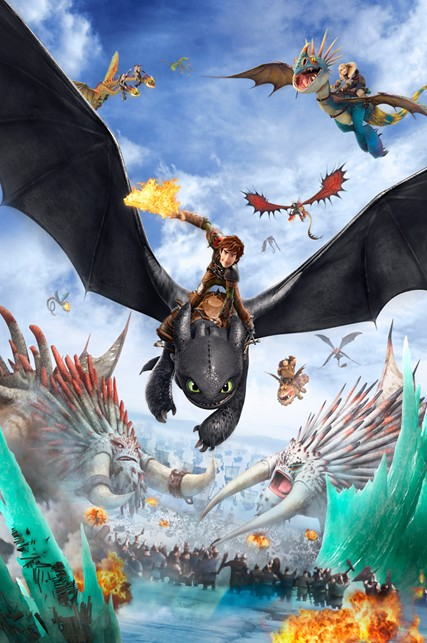 How to train your dragon 2 wall canvas picture family art silk poster wall decor 24x36inch(China (Mainland))