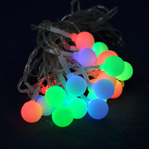 2014 NEW Solar Energy Saving 20 LED Bulbs Colorful Color Christmas Decoration lights Party lighting LED String Lights(China (Mainland))