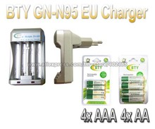 Hi-speed Quick AA AAA Rechargeable Battery BTY EU Charger N95 +4x AA 3000mAh+4x AAA 1350mAh 1.2V NI-MH Rechargeable Battery BTY