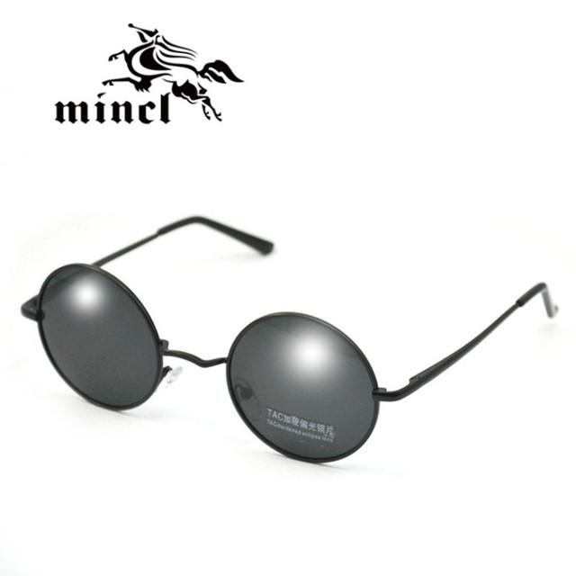 Mincl/Старинные круг очки принца зеркало солнцезащитные очки round box малый солнцезащитные ...