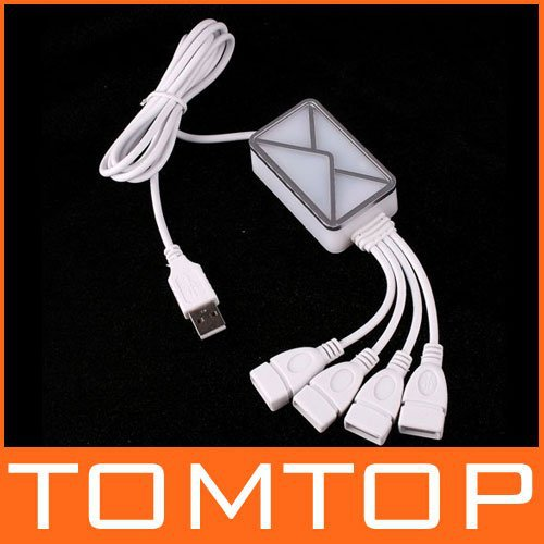 produto 4 Port HUB USB 2.0 Webmail Email Reminder Receiver Notifier for PC Laptop Free Shippping Wholesale