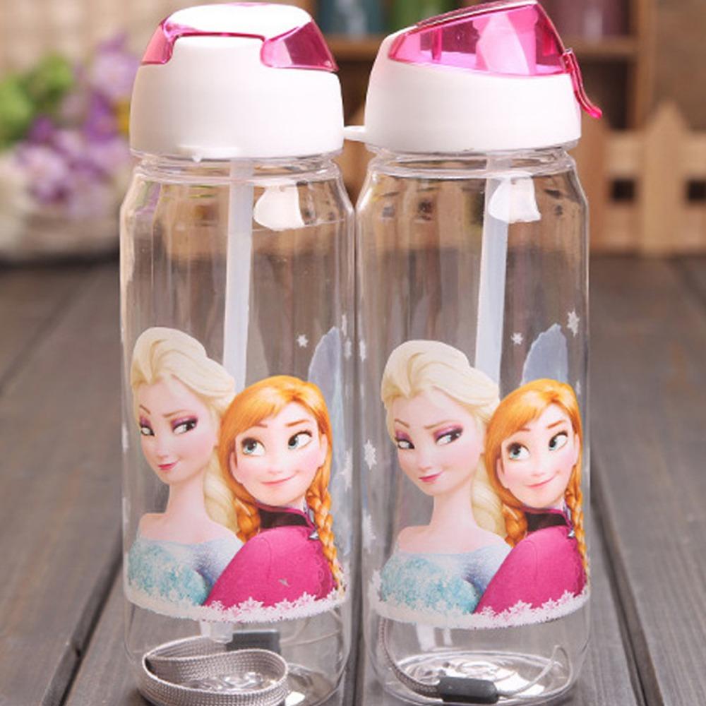 children kids Cartoon Water Bottle Drinkware Straw Cups Plastic Gift(China (Mainland))