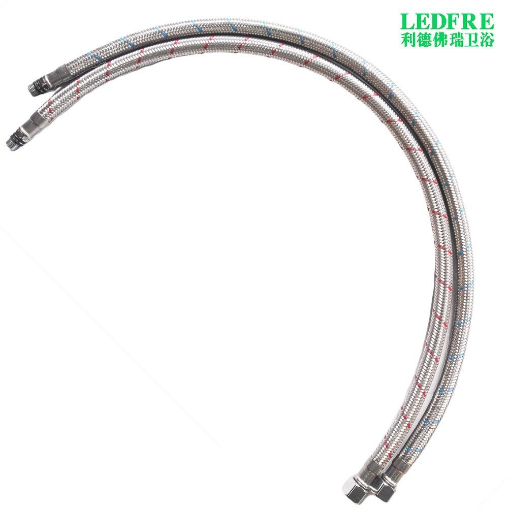 """LF15311 45CM 3/8C*M10*1"""" Flexible Braided Kitchen Faucet"""