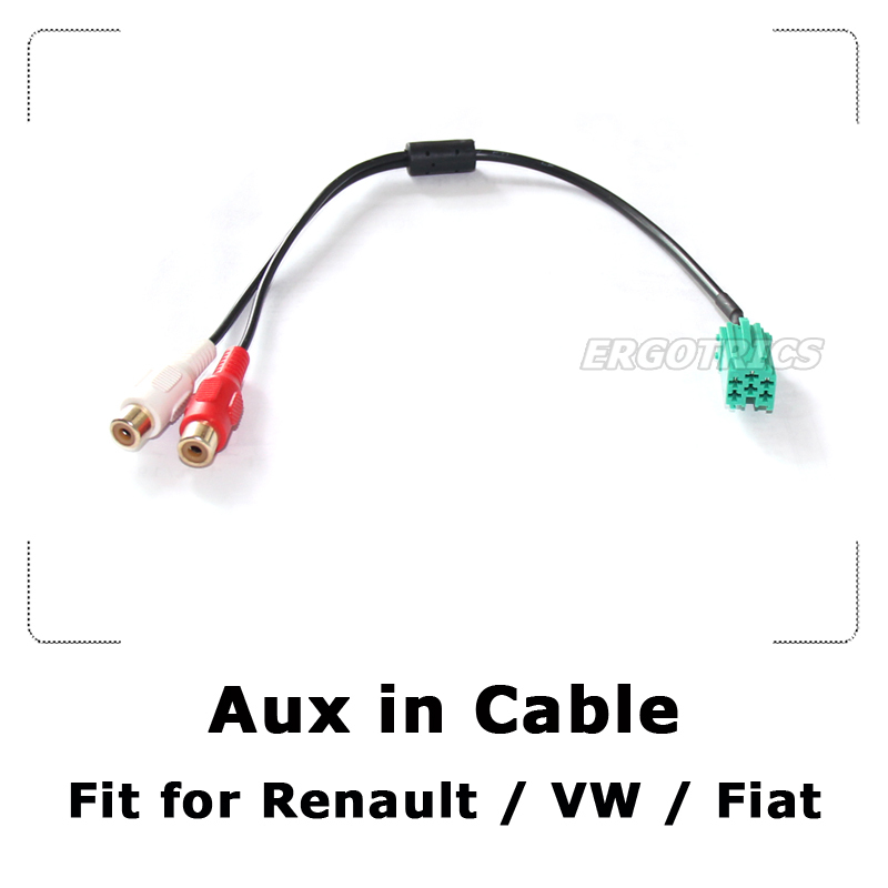 aux in cable aux in adapter for renault laguna clio kangoo megane scenic trafic twingo rca 2. Black Bedroom Furniture Sets. Home Design Ideas