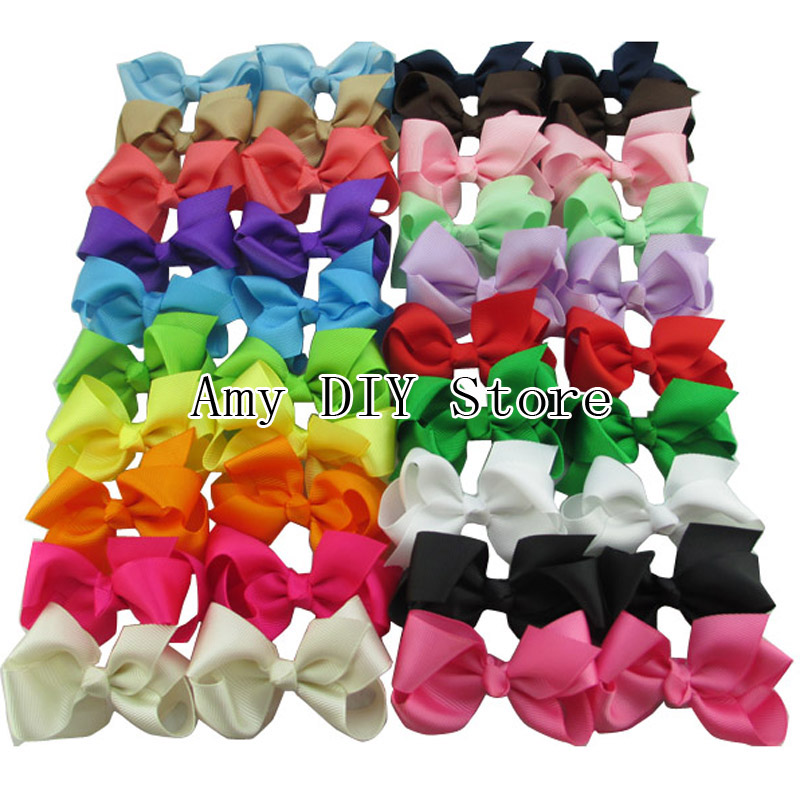 Free Shipping!1000pcs/lot 20 colors Girls Ribbon Bows with Clip,Hair accessory,Hairpin,Hair Clips,Baby girl Hair bowОдежда и ак�е��уары<br><br><br>Aliexpress