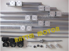 3 set ball screw SFU1605-350/900/1150+3BK/BF12+3sets SBR16 rails+3 couplers for CNC router/Milling Machine