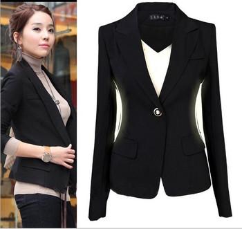 2014 новый женский пиджак Большой размер костюмы для женщин рабочая одежда черный пиджак для женщин S , чтобы XXXL размер OL куртки