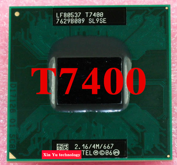 Lifetime warranty Core 2 Duo T7400 2.16GHz 4M 667 Notebook processors Laptop CPU PGA478 Official version Computer 945 mainboard(China (Mainland))