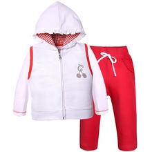 2016 Hot selling 3 piece baby girl clothes set 100% cotton Hoodies Shirts Pants for Baby Girls autumn newborns clothes S001