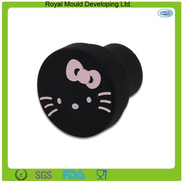 2015 Hot Sell Black Hello Kitty RMplug Car Accessories Interior Cigarette Lighter Dust Plug Bung For Kia Lada Citroen Peugeot(Hong Kong)