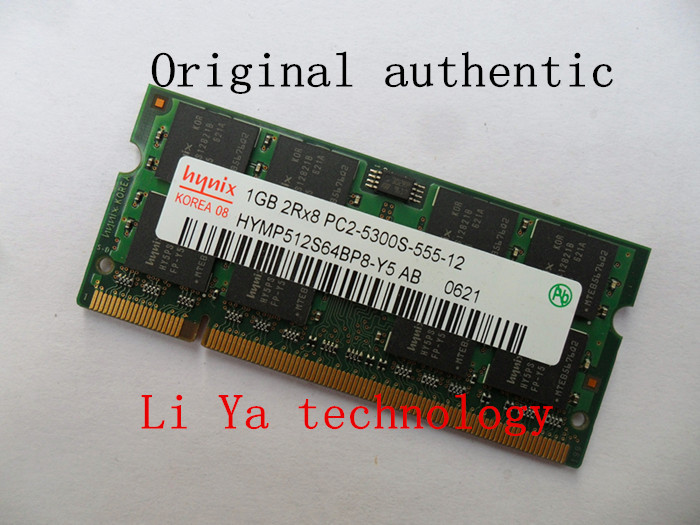 Hynix 1GB 2GB DDR2 667 PC2-5300 Notebook memory laptop RAM Original authentic SODIMM Computer Free shipping(China (Mainland))