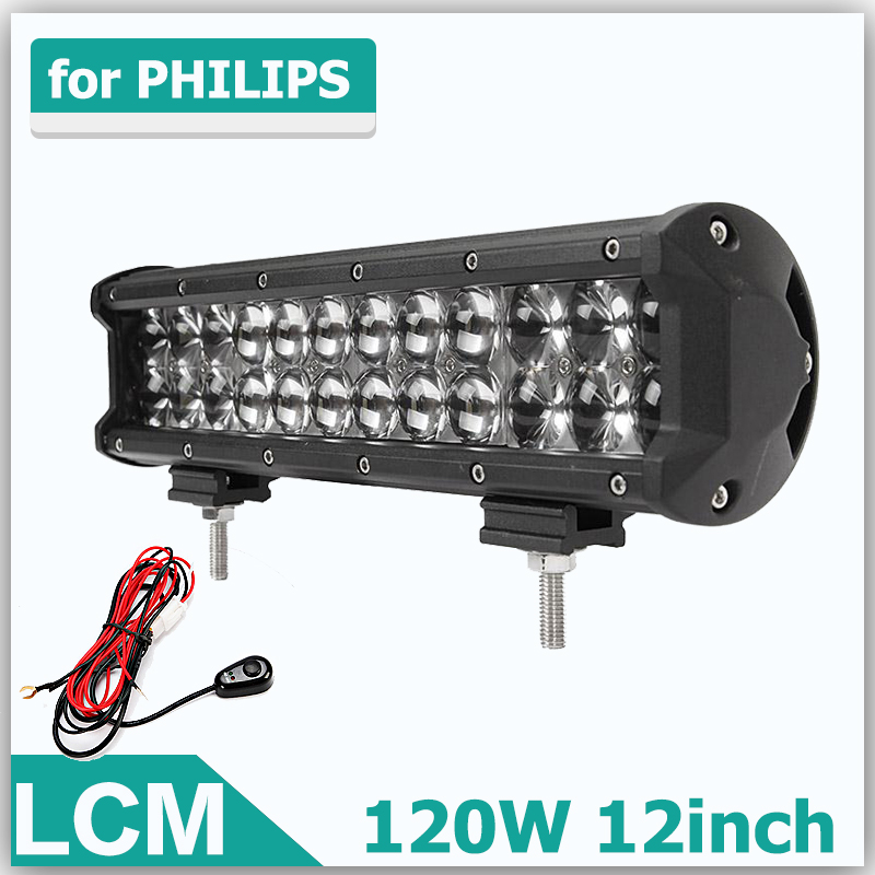 120W 12Inch LED Light Bar OffRoad Work Lights Driving Lamp Combo Beam 12v 24v Truck SUV Boat 4X4 4WD ATV LED Bar. [LCM]<br><br>Aliexpress