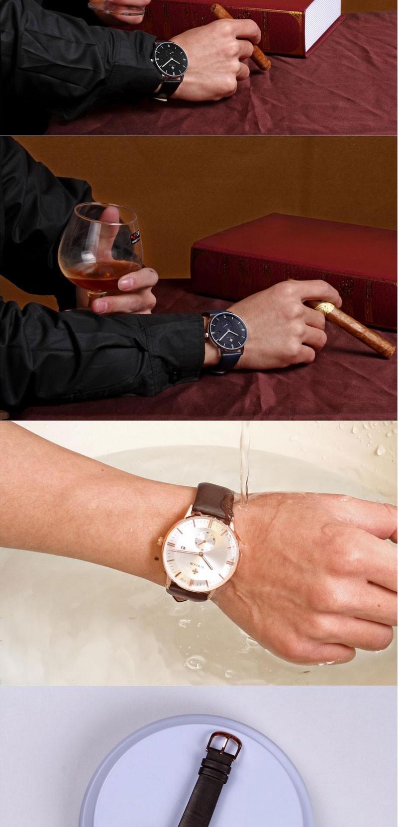 Люксовый Бренд Ультра тонкий Дата Кожа мужские Кварцевые Часы Розовое Золото Повседневная Спортивные Часы Мужчины Наручные Часы Relogio Masculino