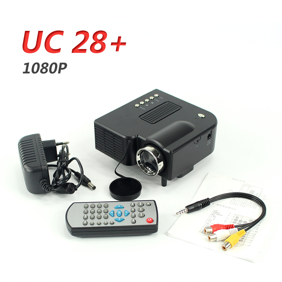 Uc28 portable mini projector projetor home cinema beamer for Portable projector for laptop