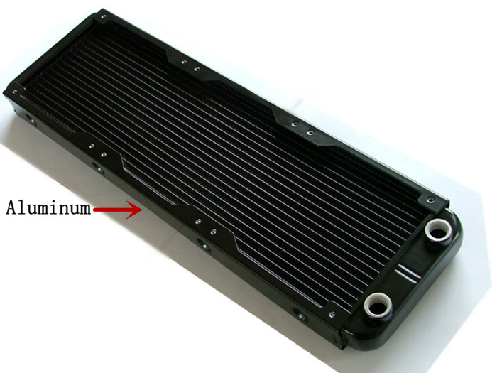 Full Aluminum 360 Water Cooling Radiator 18 Channels , Super Strong Radiating Row for Computer & Industrial Equipment(China (Mainland))