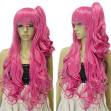 xd j00740 Women's Girl's Cute Lolita Loli Long One Clip-On Ponytail Curly Costume Wig - something in China store