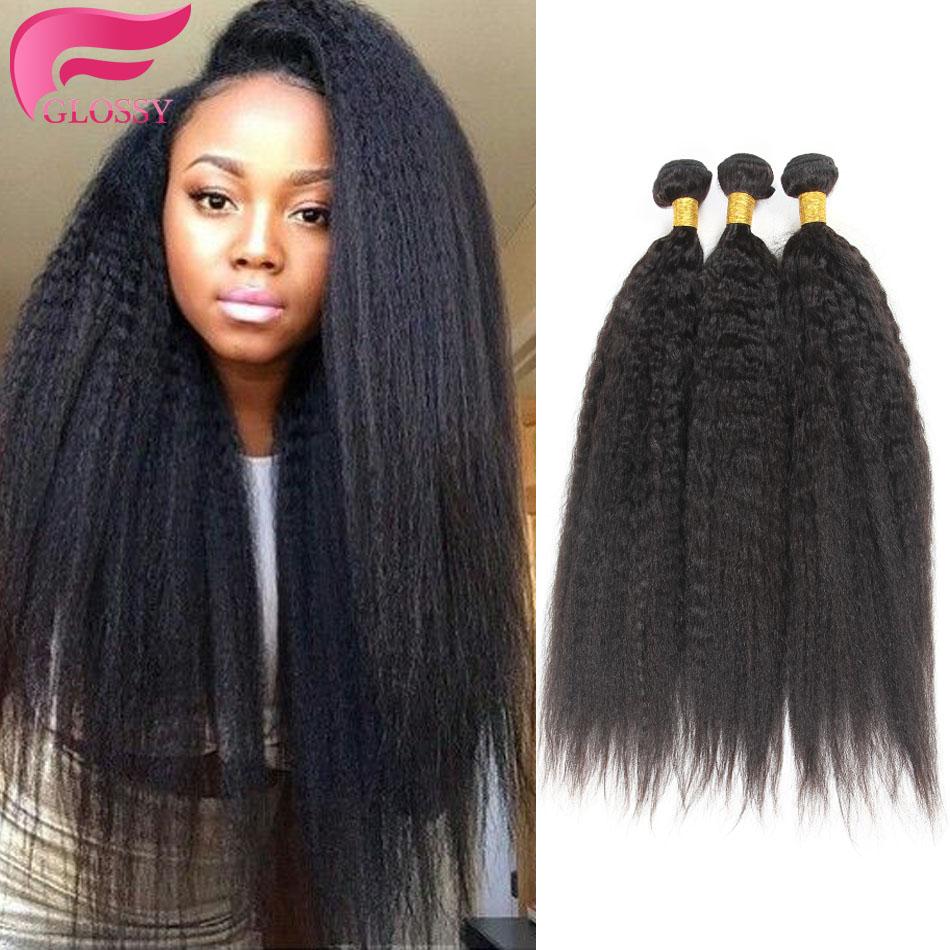 Гаджет  yaki human hair kinky straight brazilian coarse yaki virgin hair 3 pieces/lot italian yaki straight weave good cheap weave 300g None Волосы и аксессуары