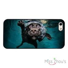 Funny Dog Underwater Swimming back skins mobile cellphone cases cover for iphone 4/4s 5/5s 5c SE 6/6s plus ipod touch 4/5/6
