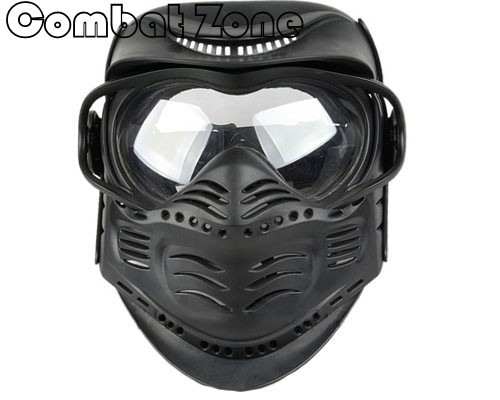 Paintball Airsoft Full Face Mask Goggles&Neck Protection Halloween Masks CS Cosplay Hard Plastic Maks-Type B