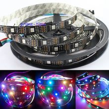 DC5V WS2801 32LED/M 160LEDs, 32 WS2801IC/M, 5M 5050 SMD Non-waterproof WS2801 LED Strip 12mm Black PCB Individually Addressable(China (Mainland))