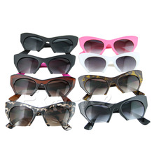 Women's Leopard Cat Eye Sunglasses Retro Classic Designer Vintage Fashion Shades