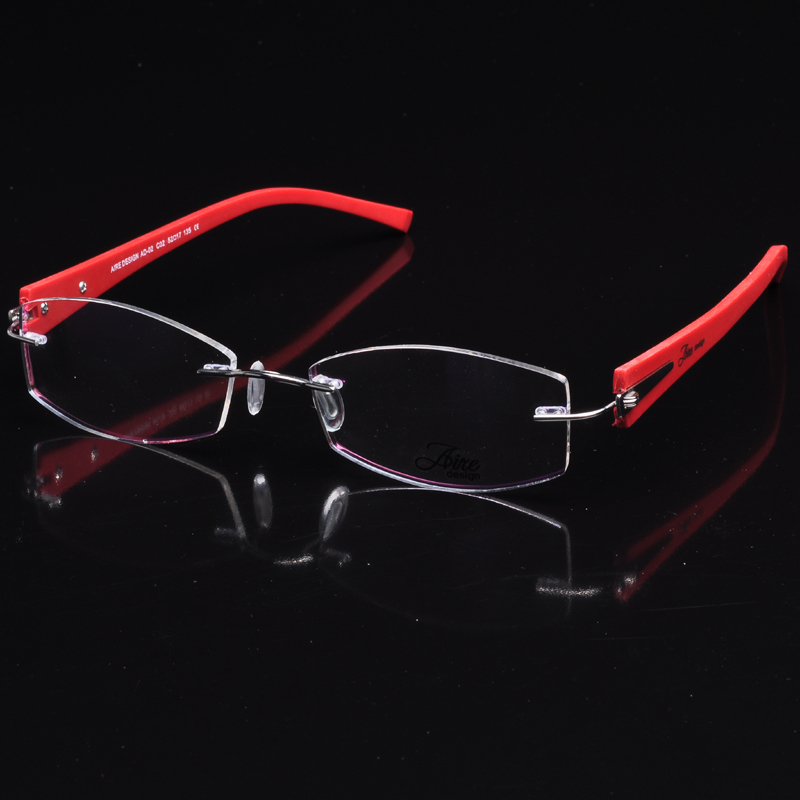 Free shipping Pure Titanium TR90 temple clear lens glasses ...