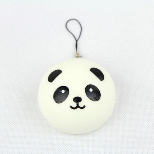 4cm 1PCS Squishy Bag Strap Jumbo Key/Bag Cute Cell Phone Panda Pendant Buns(China (Mainland))
