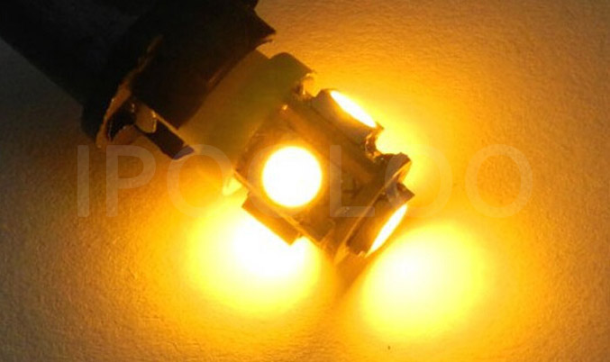 1x White 360 Degree 5050 SMD 168 194 2825 w5w T10 LED Car Led Light Bulbs