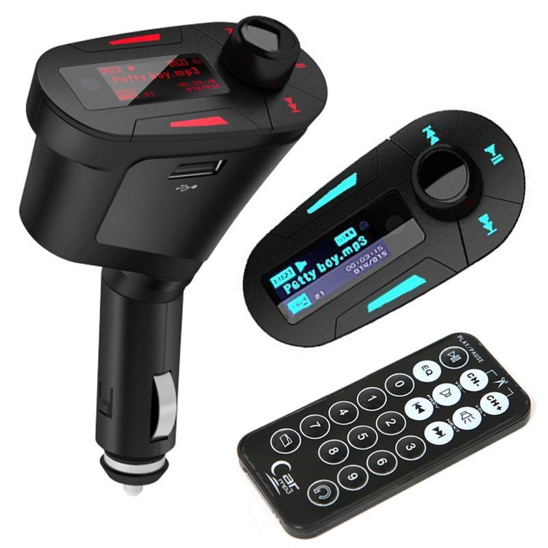 Комплект автомобиль mp3-плеер беспроводная fm-передатчик модулятор USB SD MMC жк-дисплей с дистанционным # L31122
