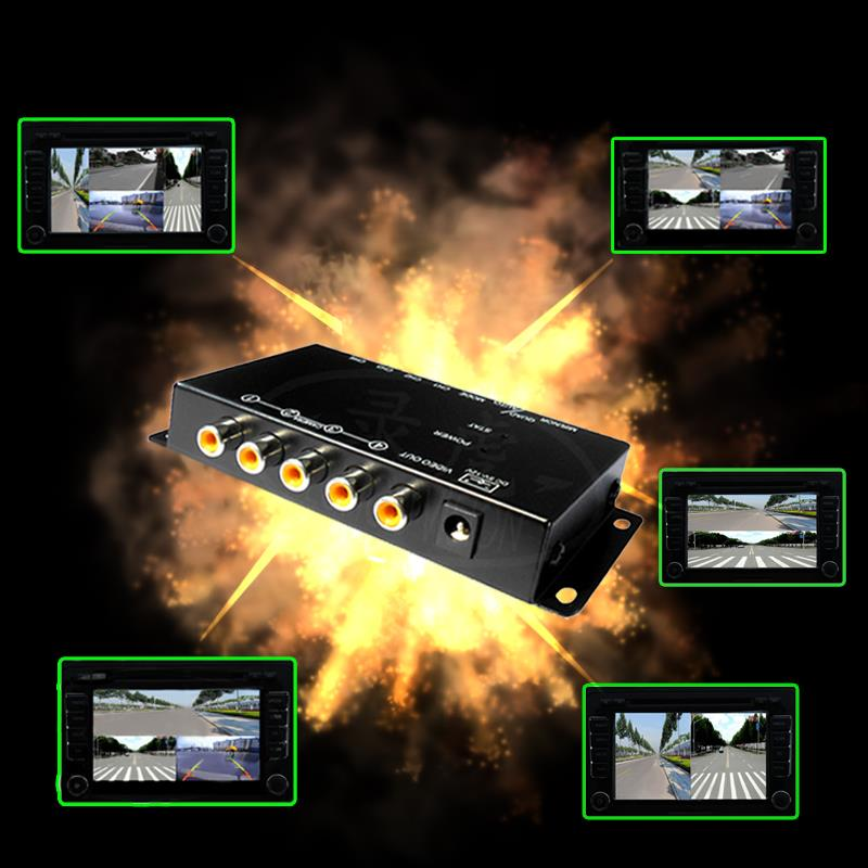 IR control Car Multiple Cameras Image Switch Control Box Front/Rear/Left/Right View Parking System Video Control 2 3 4 Cameras(China (Mainland))