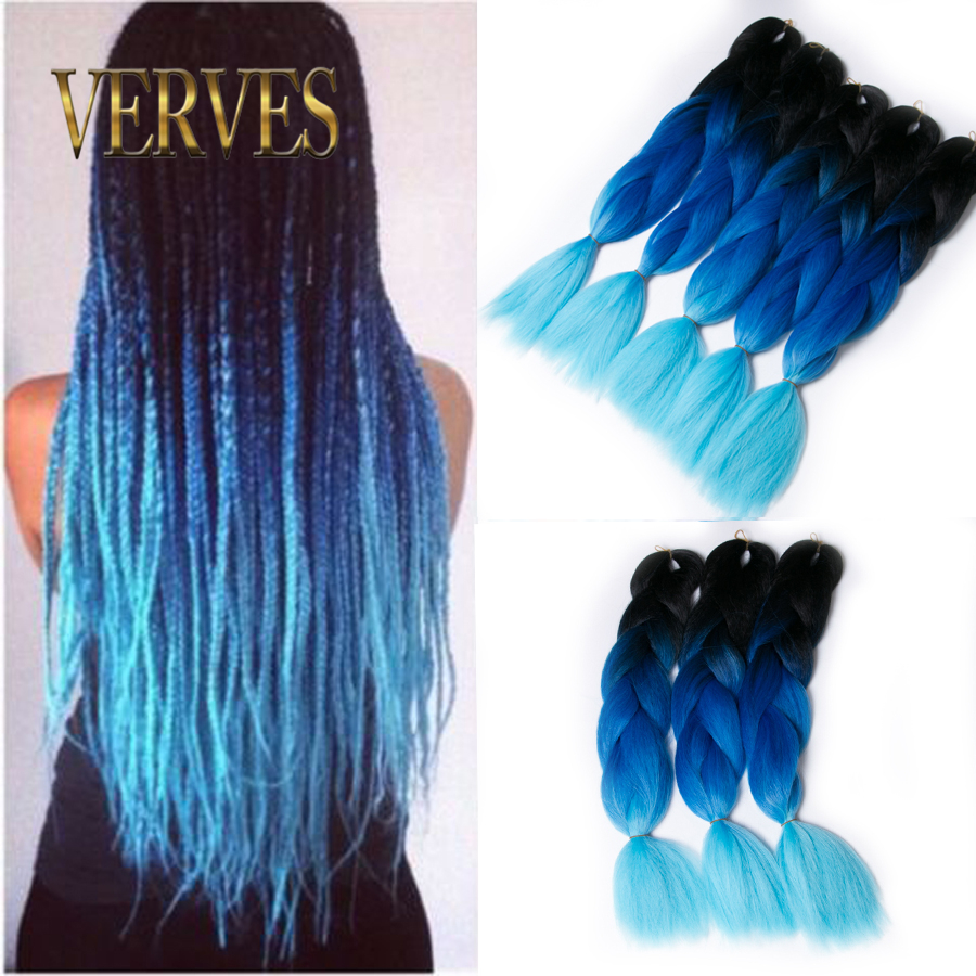 blue braiding hair High Temperature Fiber Box Synthetic Braiding ...