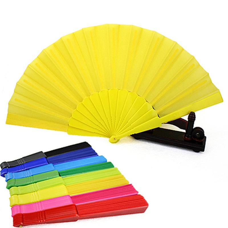 Portable Chinese Folding Fan Plain Hand Held Fabric Summer Pocket Fan Wedding Party(China (Mainland))