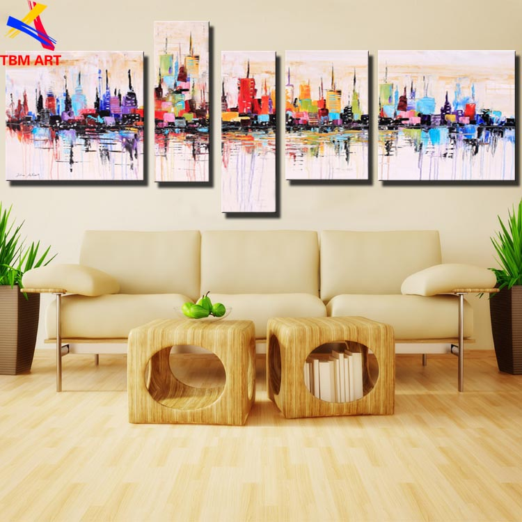 New York City Art Picture 100% Hand painted American Style Modern Abstract Oil Painting On Canvas Wall Art Gift No Frame  Z011