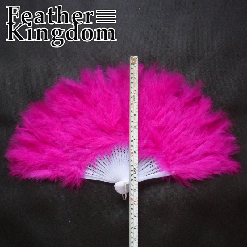 9 Colors 28 Fan Rib 5pcs Large supply Feather Crafts Performing Feather Fan for Wedding Hand Fancy Dress Costume(China (Mainland))