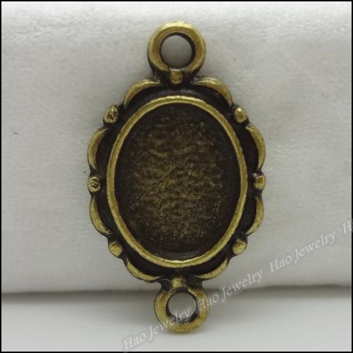 160pcs Vintage Charms Base Pendant Antique bronze Zinc Alloy Fit Bracelet Necklace DIY Metal Jewelry Findings(China (Mainland))