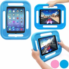 Kids Play Case for Apple iPad Mini123 Shock-Absorbing, Drop-Proof Design; Child-Safe EVA Foam Rubber Material; 4-sided Handles(China (Mainland))