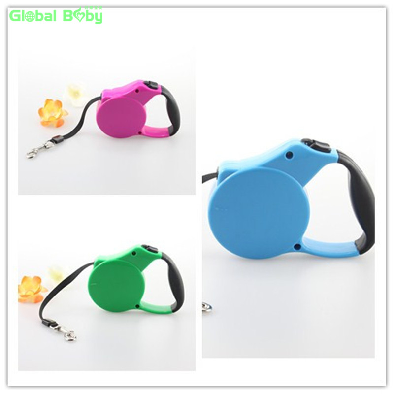 New Arrival 3M 5M Retractable Dog Leash ABS Extending Pet Dog Puppy Walking Leash Leads(China (Mainland))