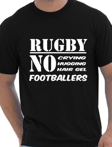 Funny Mens Rugby Shirt No Footballers Rugby Players Gift