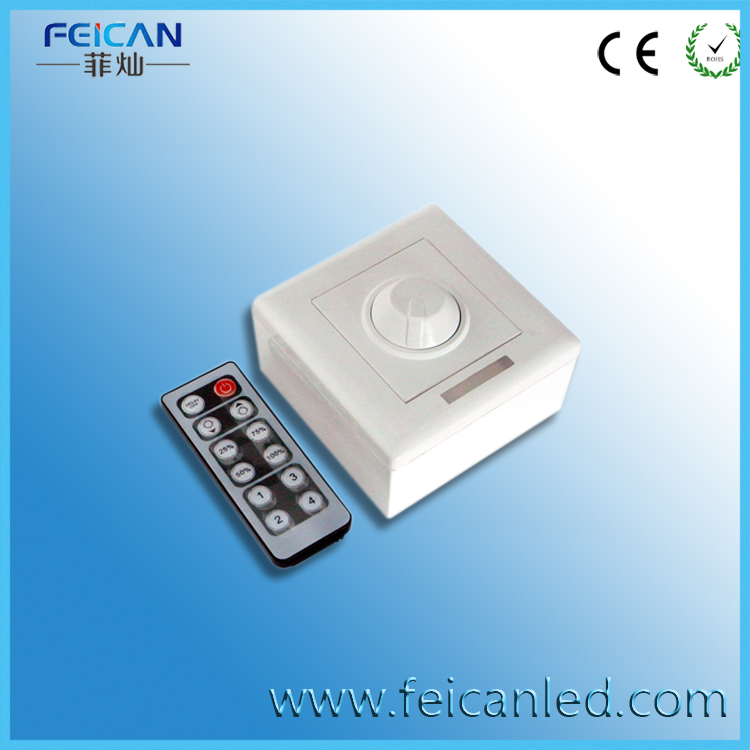 Free Shipping DC12V-24V 8A 12Key Wall Switch Infrared Remote Dimmer Controller for SMD5050 3528 Single Color LED Strip(China (Mainland))