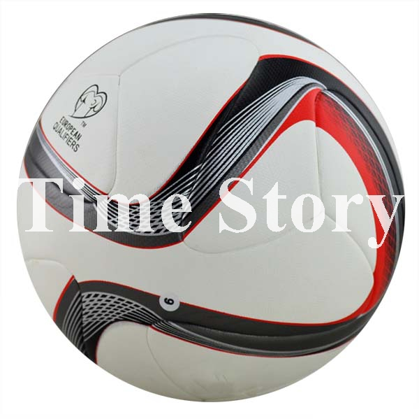 2015 Hot Sale Brand New European Qualifiers Balls Final Soccer Ball PU Laminated Official Size 5 Football For Match Training(China (Mainland))