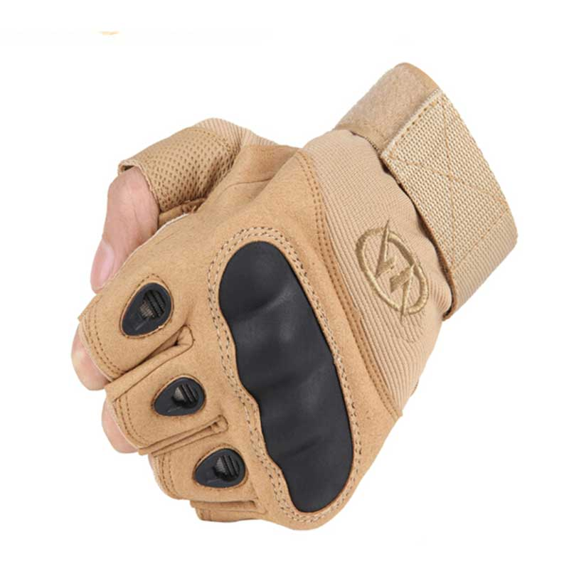 NMSAFETY Outdoor Military Airsoft Hunting Paintball Cycling Army Tactical Half Finger Gloves(China (Mainland))