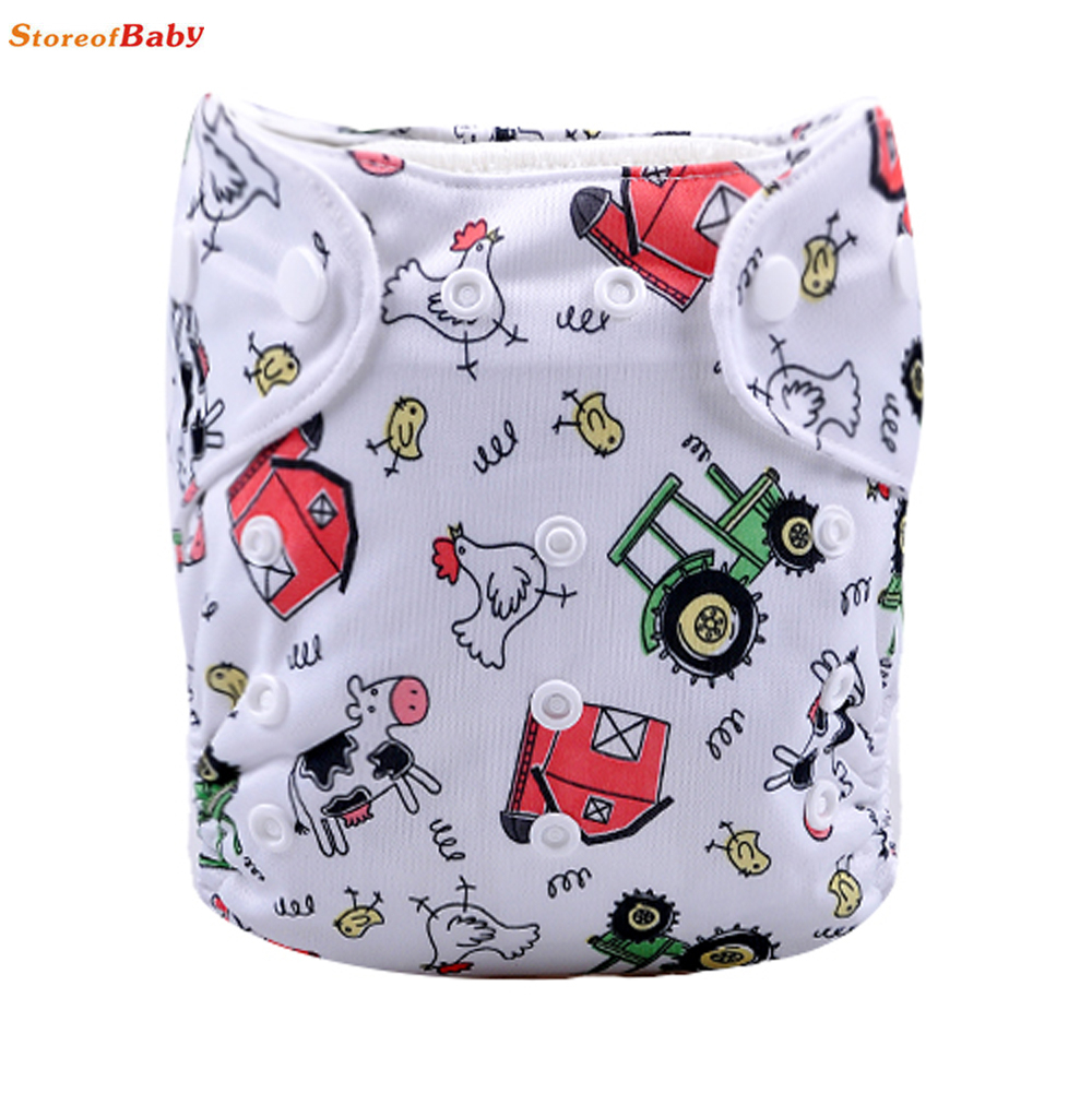 100%original one pocket conch prints baby colth diapers all in one<br>