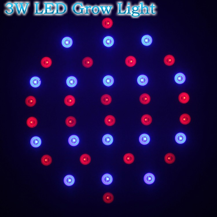 10X E27 3W 20Red:16Blue Hydroponics Plant Lighting 85-265V Apollo LED Grow Light SMD5730 LED Spot Bulb Lamp Grow Lighting(China (Mainland))