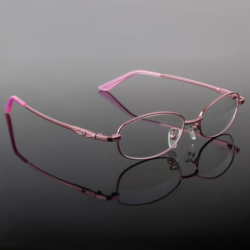 Eyeglasses Frames Titanium Womens : Quality Eyeglasses Lady Full Frame B Titanium Eyeglasses ...
