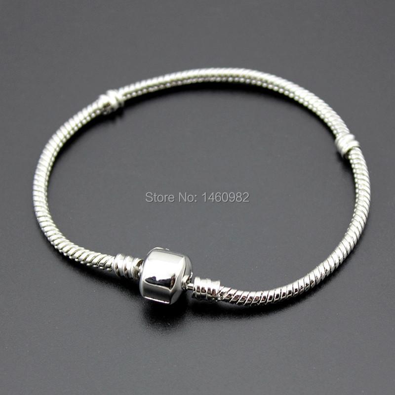 mens european 3mm silver plated snake chain