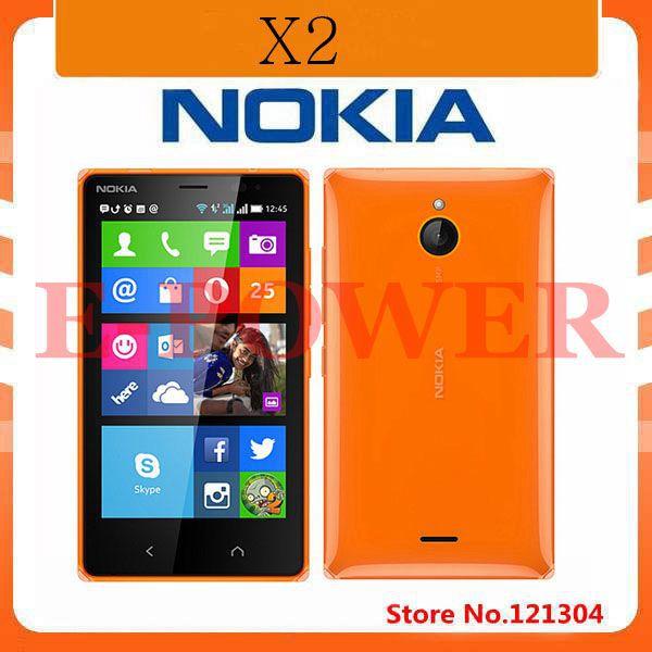 Original Nokia X2 4GB Dual-Core 1.2GHz 1GB RAM 4.3''LCD 5.0MP Android OS 4.3 WIFI GPS 3G Unlocked Phone Refurbished(China (Mainland))
