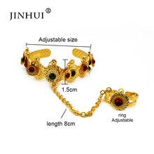 Jin הואי 1 חתיכות של זהב נחושת צמיד עבור תינוק בנות דובאי תכשיטי צמיד טבעת, בני ילדי אפריקאי מתנות יום הולדת הווה(China)