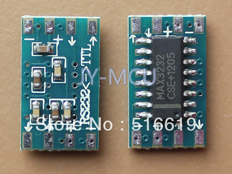 JY-MCU mini RS232 Level to TTL Level conversion board Serial interface conversion board, domestic chip(China (Mainland))