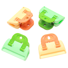 Portable ABS Practical Food Sealing Very Strong Clamp Clip Powder Food Package Bag Clip Hot Sale 4PCS QB678654(China (Mainland))